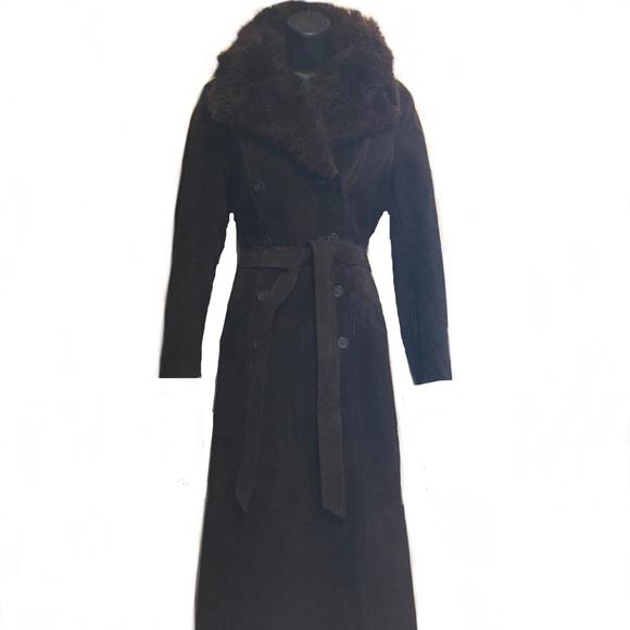 Vintage Jackets & Blazers - Vintage 1970's Brown Suede Shearling